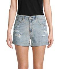 hailey ex-boyfriend roll-up denim shorts