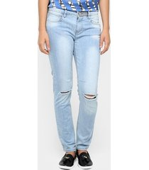 calça jeans mob skinny rasgada