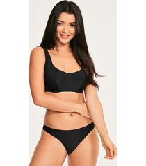 rene underwire scoop neck crop bikini top
