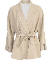 oversized jas met donker mouwen