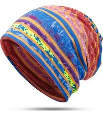 berretto da baseball a righe in cotone con stampa a righe, utile per entrambe le teste e cappello caldo collo