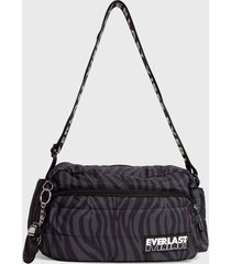 bolso quilted queen gris everlast