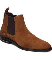 signature hilfiger suede chelsea shoes chelsea boots brun tommy hilfiger