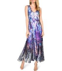 women's komarov lace-up maxi dress