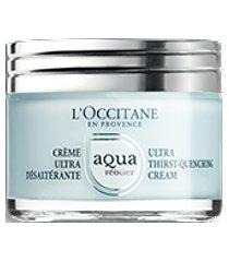 l'occitane creme facial hidratante aqua réotier