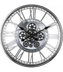 zegar metalowy simeone srebrny 54 cm