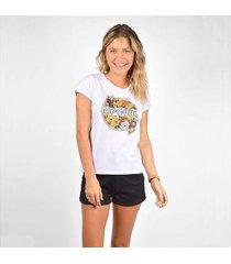 camiseta rip curl tropic days tee feminina - feminino