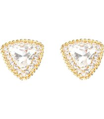 alessandra rich crystal triangle clips earrings