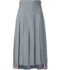 thom browne high-waist pleated skirt - grey