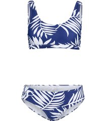 bikini con reggiseno bustier (blu) - bpc bonprix collection