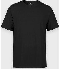 męska koszulka (bez nadruku, gładka) - czarna