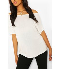 maternity off shoulder t-shirt, ivory
