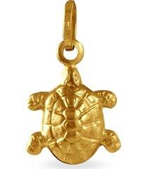 ciondolo in oro giallo tartaruga per unisex