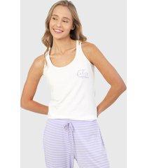camiseta esqueleto pijama blanco-lila bronzini éxito