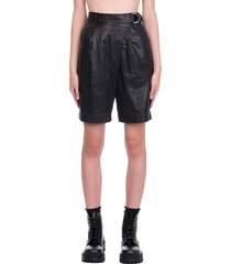 helmut lang wrap short shorts in black leather
