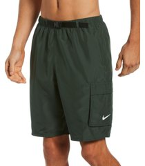 nike men's swim belted packable volley shorts