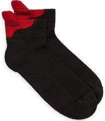 men's alexander mcqueen logo heel tab ankle socks, size one size - black