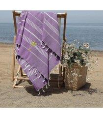 linum home lucky breezy palm tree pestemal beach towel bedding