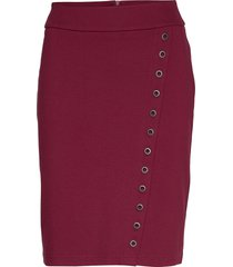 skirt-jersey knälång kjol röd brandtex
