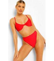essentials bikini top met beugel, rood
