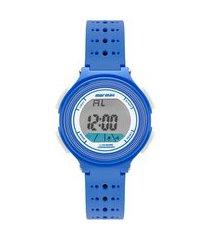 relógio digital mormaii unissex - mo09748a azul