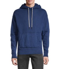 joe's jeans men's cotton french terry hoodie - vintage navy heather - size s