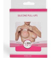 bye siliconen pull-ups voor beha - eén maat, nude