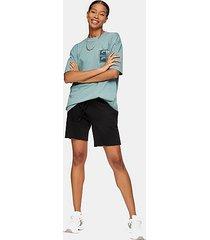 topman black jersey shorts - black