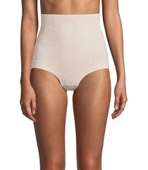 ava & aiden women's 2-pack bonded edge shapewear control brief - nude black - size m