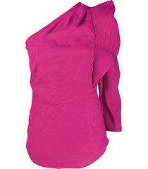 isabel marant étoile structured one-shoulder top - pink