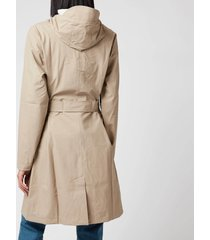 rains women's belt jacket - beige - xs/s