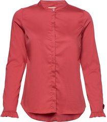 mattie sustainable shirt overhemd met lange mouwen rood mos mosh