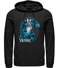 marvel men's classic venom web, pullover hoodie