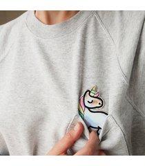 bluza raglan kieszonka jednorożec holo