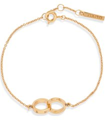 olivia burton the classics double ring chain bracelet in gold at nordstrom