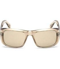 aristotle 56mm rectangular sunglasses