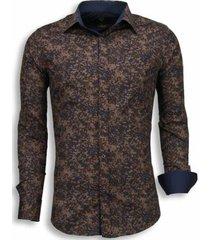 overhemd lange mouw tony backer italiaanse overhemden - slim fit - camouflage -