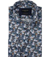 cavallaro shirt florando navy bloemprint