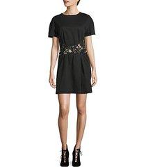 floral mesh wrap t-shirt dress