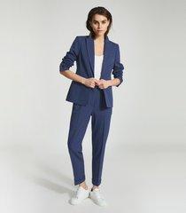 reiss sienna - wool blend blazer in blue, womens, size 12