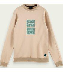 scotch & soda artwork sweater van een katoenmix