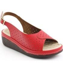 sandalia casual tipo confort para dama 6922282rojo