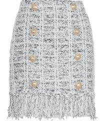 balmain mini skirt with fringes