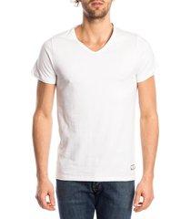 ten cate heren t-shirt v-hals wit (2p)