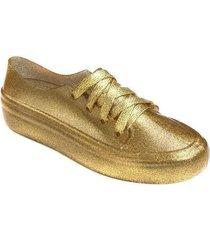tenis 100% plástico dorado wanted converse