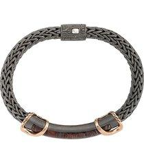 john hardy asli classic large chain link bracelet - grey