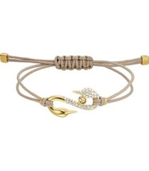 pulsera  power collection hook, marrón, baño en tono oro 5508527
