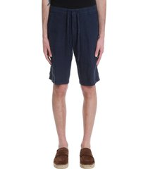 shorts in blue triacetate