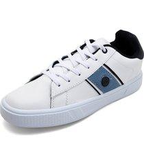 tenis para hombre tellenzi 1855 - blanco*azul