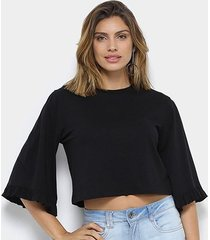 camiseta my favorite thing (s) babado feminina